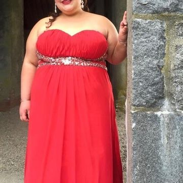 49%OFF Cheap Long Plus Size Red A-line Sweetheart Sleeveless ...