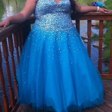 Cheap Long Plus Size Blue A-line Sweetheart Sleeveless Zipper Beading Prom Dresses 2019