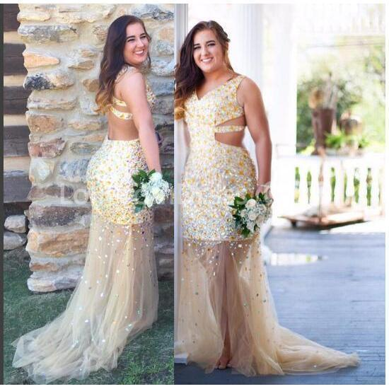 Discount Gothic Lace Wedding Dresses 2019 Plus Size A Line: 49%OFF Long Prom Dresses 2019 Mermaid V-Neck Sleeveless