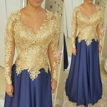 f8dbcc0d5c4 49%OFF Long Mother of Bride Dresses 2019 A-line V-Neck Long Sleeves ...