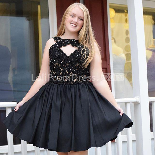 49%OFF Black Homecoming Prom Dresses 2019 A-line Halter ...