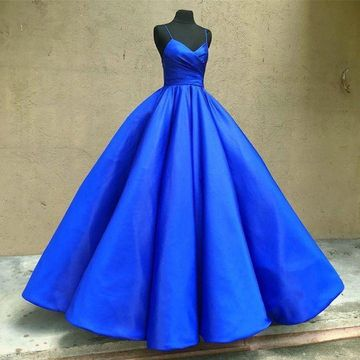 Royal Blue Long Prom Dresses 2019 Ball Gown