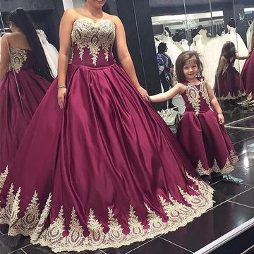 49%OFF Burgundy Long Prom Dresses 2019 Ball Gown Plus Size ...