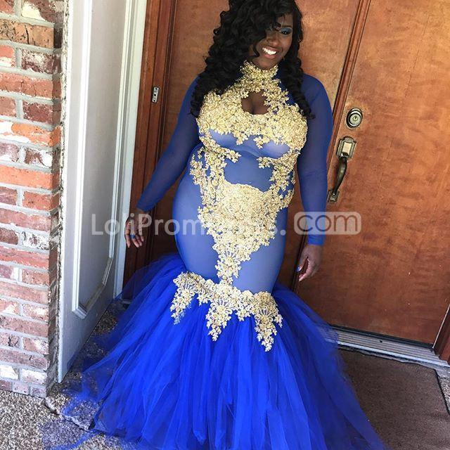 49%OFF Royal Blue Long Prom Dresses 2019 Mermaid Long ...