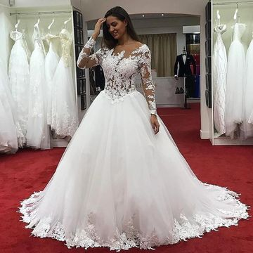 Long Sleeve Wedding Dresses.49 Off Long Wedding Dresses 2019 Ball Gown Long Sleeves Lace