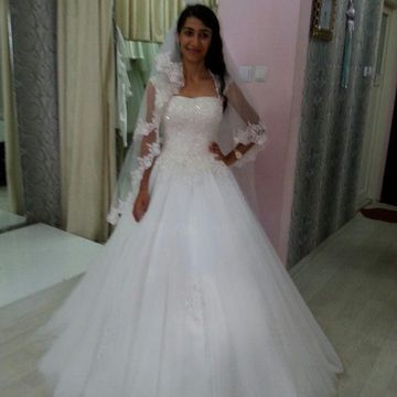 Capped Sleeves A-line 2019 Wedding Dress