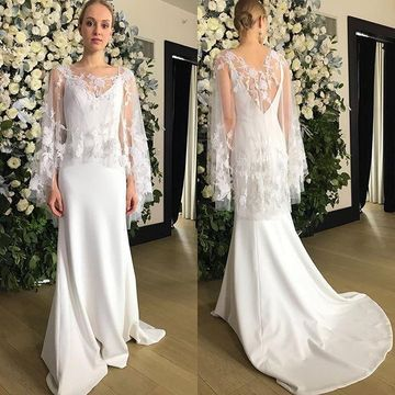 49 Off V Neck Sleeveless 2019 Simple Mermaid Wedding Dress