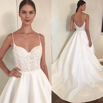 A Line Wedding Dress.49 Off Spaghetti Straps Lace 2019 A Line Wedding Dress