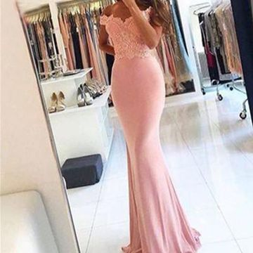 Long Sexy Mermaid Zipper Beading Prom Dresses 2019 Lace