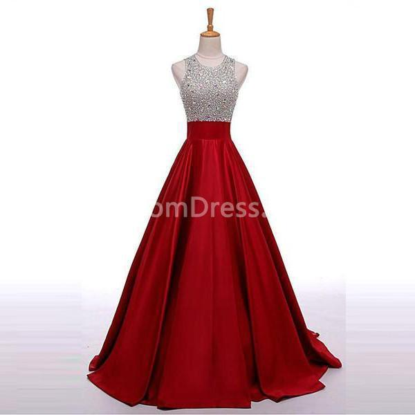 49 Off Long Red A Line Sleeveless Sequins Bridesmaid