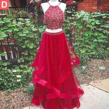 a81511d81fa 49%OFF Long Junior White A-line Halter Sleeveless Beading Prom ...