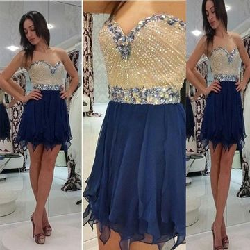 49%OFF A-line Sweetheart Sleeveless Zipper Beading Homecoming Prom ... 0b12f8a86