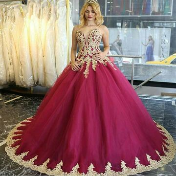 Long Ball Gown Strapless Sleeveless Zipper Appliques Prom Dresses 2019