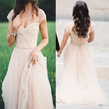 Beige/Champagne Long Prom Dresses 2019 A-line Chiffon For Short Girls