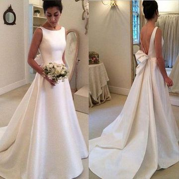 f8373004a03c 49%OFF White Long Wedding Dresses 2019 Ball Gown Sleeveless Open ...