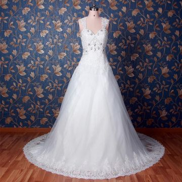 White Long Wedding Dresses 2019 Princess Lace