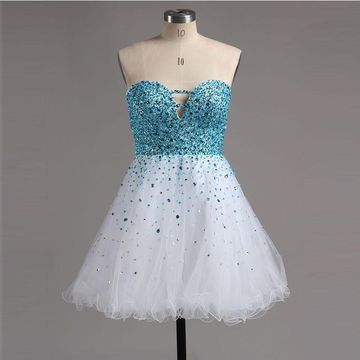 49%OFF Cute A-line Sweetheart Sleeveless Zipper Beading Homecoming ... 643200958