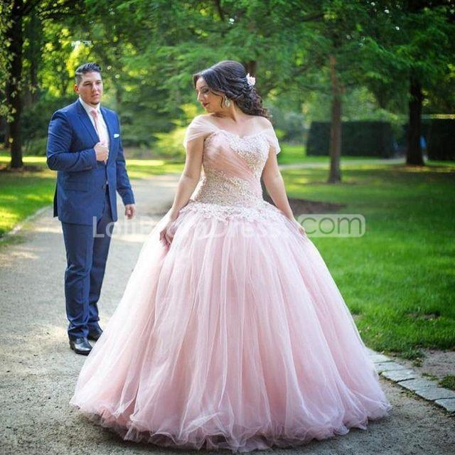 Wedding Gown Designs For Plus Size: 49%OFF Cheap Plus Size Pink Short Sleeves Zipper Appliques
