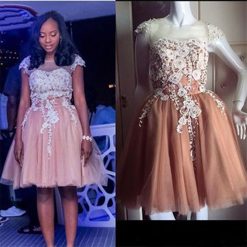 Short Homecoming Prom Dresses 2020 A-line African Cute
