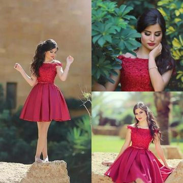 Red Short Prom Dresses 2019 A-line Cute For Short Girls