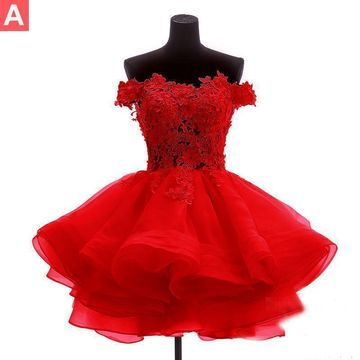 49%OFF Red Short Homecoming Prom Dresses 2019 A,line