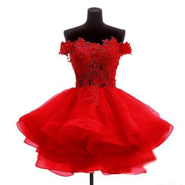 Red Short Homecoming Prom Dresses 2019 A-line Sleeveless Cute Sexy