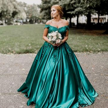 Green Long Prom Dresses 2019 A-line Sleeveless