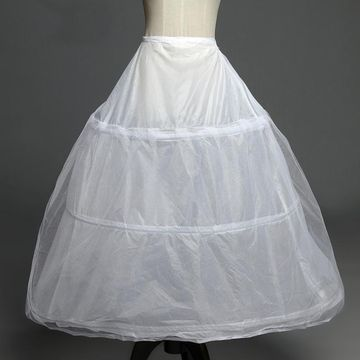 Simple Three Hoops Wedding Petticoat