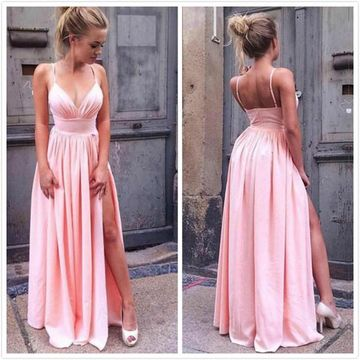 A-Line/Princess Sleeveless Straps Floor-Length Ruched Chiffon Prom Dresses ZZZ