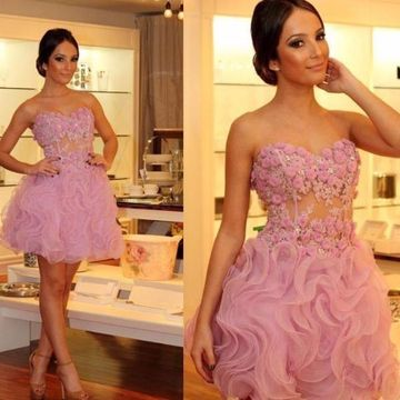 Short Homecoming Prom Dresses 2019 A-line Sleeveless Sexy