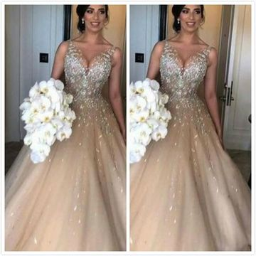 Long Prom Dresses 2019 Ball Gown Sleeveless