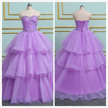 9f0317896f2 49%OFF Princess Formal Purple Ball Gown Sleeveless Natural Waist ...