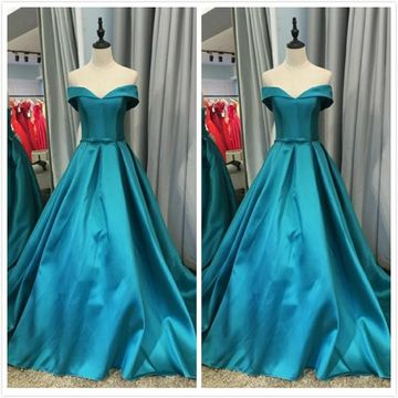 Elegant African Blue A-line Short Sleeves Natural Waist Bow Prom Dresses 2019