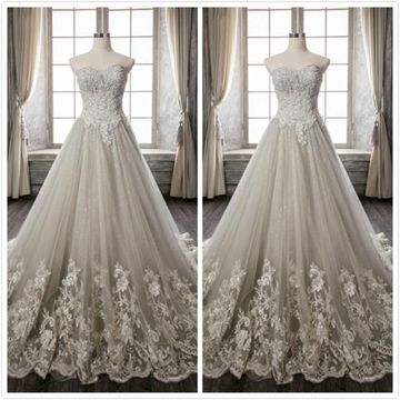 Formal Gray A-line Sleeveless Natural Waist Appliques Sequins Prom Dresses 2019