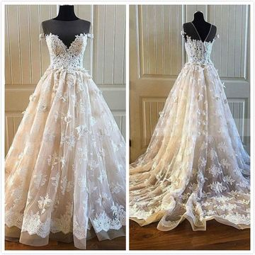 Elegant Princess A-line Sleeveless Natural Waist Beading Appliques Prom Dresses 2020 Court Train