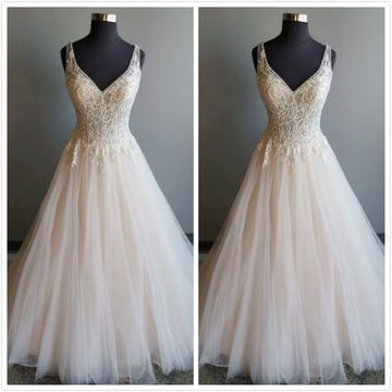 Elegant Formal Gorgeous Ivory A-line Sleeveless Natural Waist Appliques Prom Dresses 2019