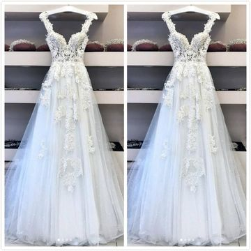 Elegant Formal White A-line Sleeveless Natural Waist Sequins Prom Dresses 2020