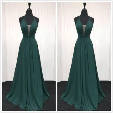 Simple Formal Gorgeous A-line Sleeveless Natural Waist Ruched Prom Dresses 2020 Floor-length