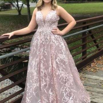 Plus Size Princess Pink Pearl Pink A-line Sleeveless Natural Waist Beading Appliques Prom Dresses 2019