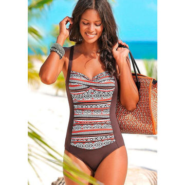 1671a5c6ca456 49%OFF 2017 New One Piece Swimsuit Women Plus Size Swimwear Retro ...