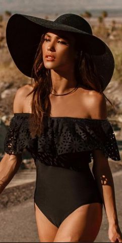 49%OFF 2018 New Sexy Off The Shoulder Solid Swimwear Women One Piece ... e5476c2a61