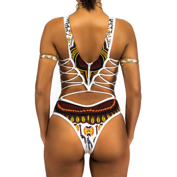 2895bc5e62 49%OFF African One Piece Swimsuit 2019 Dashiki Print Swimwear Women ...