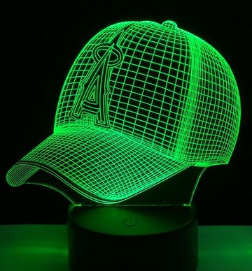 A Touch 3D  Peaked Cap Baseball Colorful Nightlight