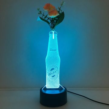3D Drink Vase Flower Arrangement Stereo Lamp