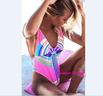 49%OFF Womens One-Piece Swimsuit Printed Swimwear For 2018 Summer ... a9d343edd