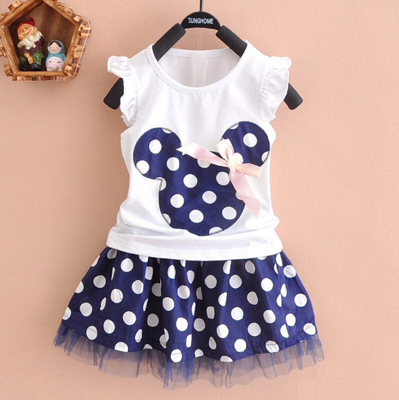 10 47 Minnie Mouse Clothes Set Kids Baby Girls Summer Outfits