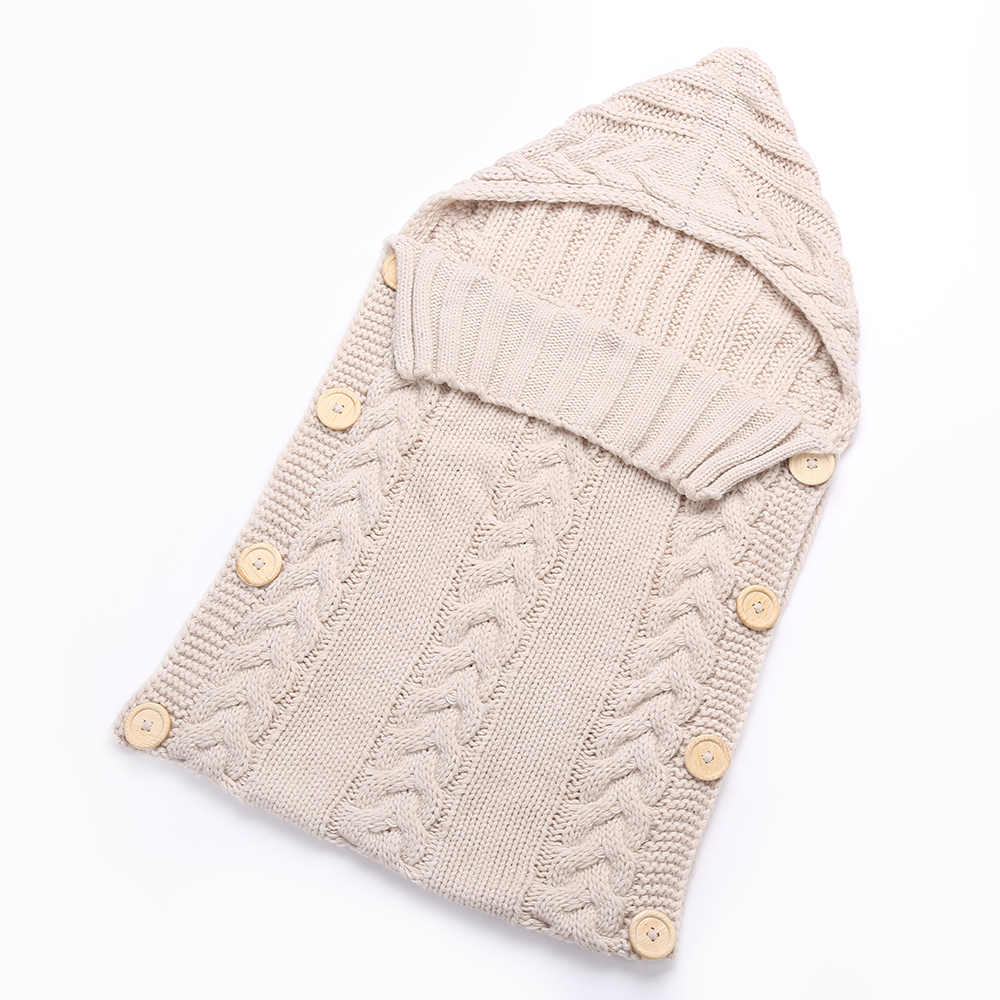 $17.21 New Warm Newborn Baby Sleeping Bags Solid Knitted Infant ...