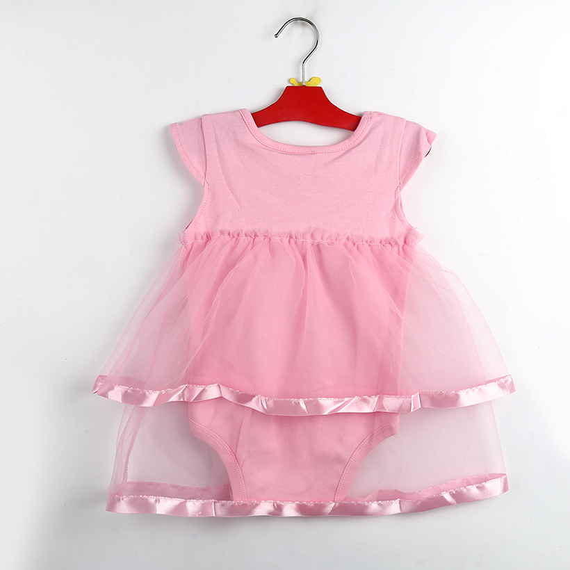 fe28eab3c5c  13.61 TANGUOANT Hot Sale NewBorn Baby Dress Summer Cotton Bow Baby ...