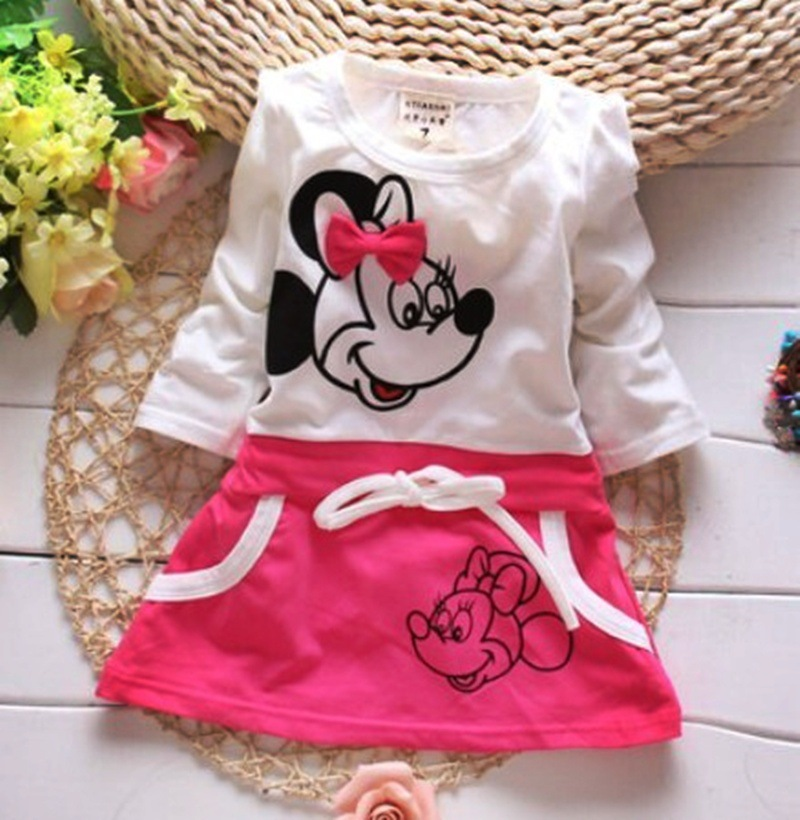 3ac97db5f $11.79 New Kids baby girl dress cute cartoon children Dress baby Clothes,lovely  girls dress,Bow infantis newborn baby dresses girl